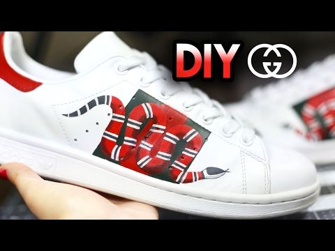 (34) How To: Gucci Snake Custom Shoes From Adidas Stan Smiths | Drawing