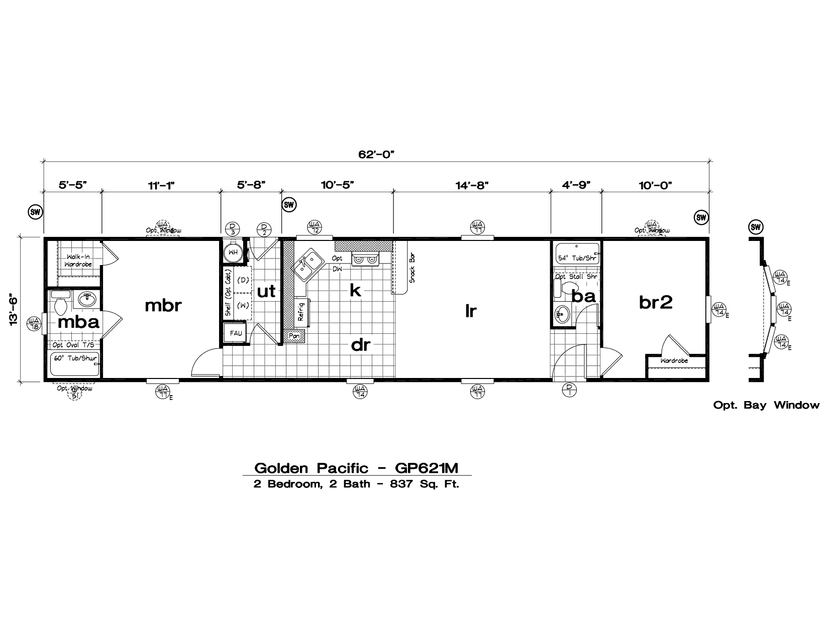 Mobile Home Floor Plans With Tlc Manufactured Homes Golden Pacific ...
