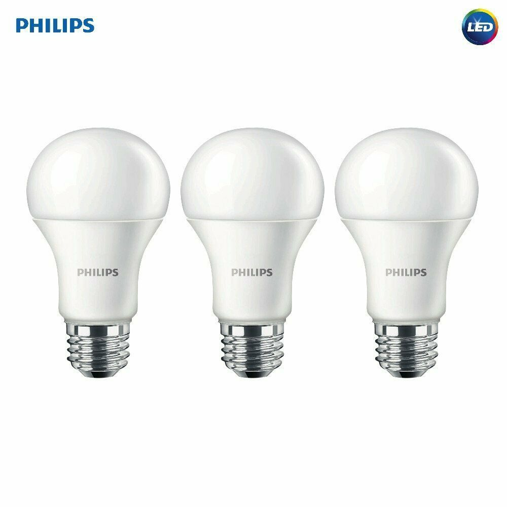 Philips Led 3 Pack Non Dimmable A19 Frosted Light Bulb Philipsled 100wattequivalent Light Bulb Philips Led Led Smart Bulb