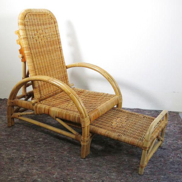 transat en rotin vintage assises baos concept store vintage et contemporain