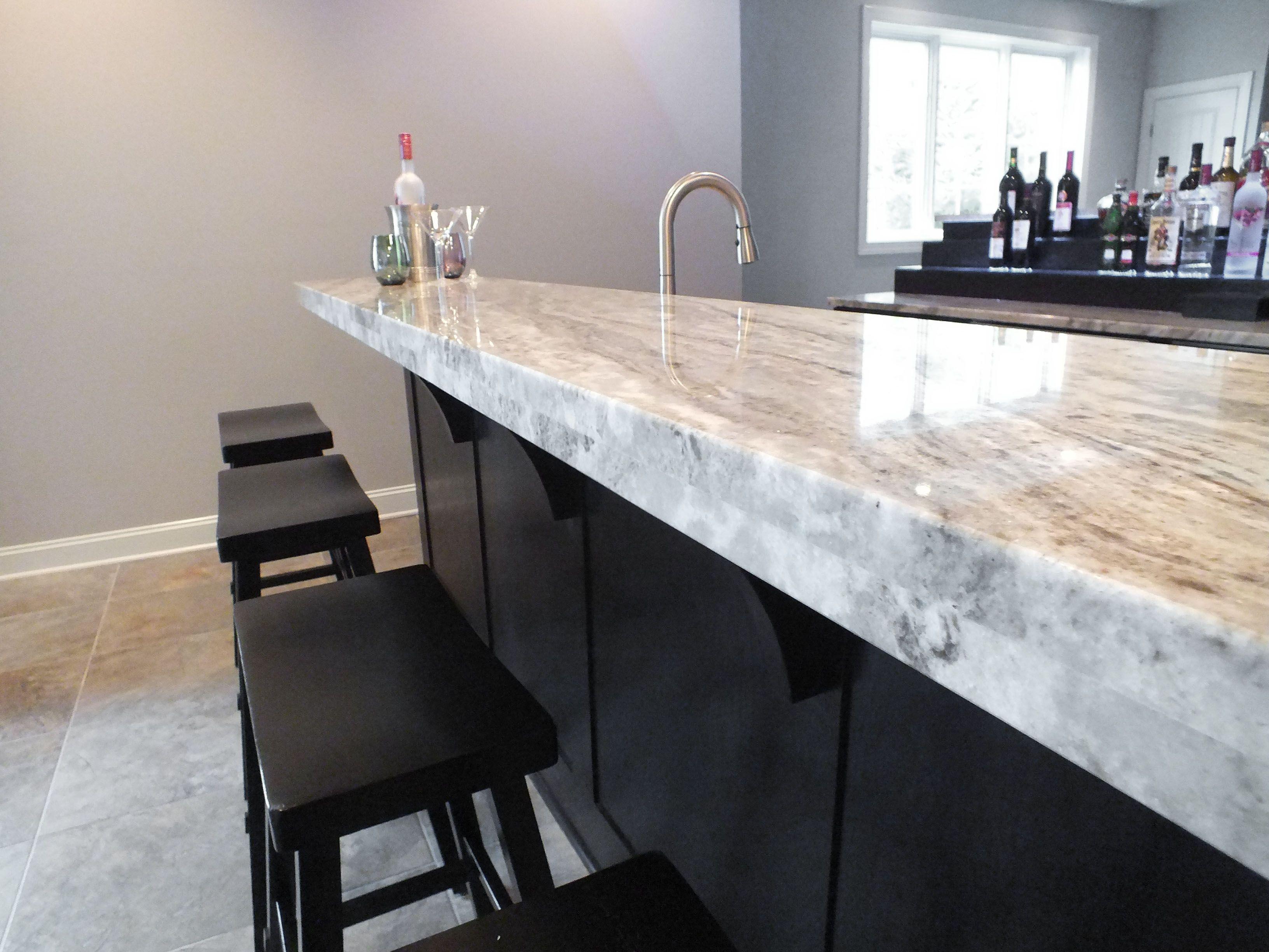 Granite Bar Counter Consider Darker For Basement Only House