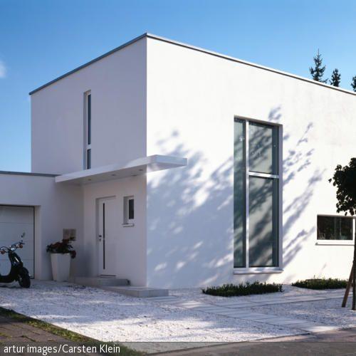 Haus mit Kies Vorgarten | Ideen Hausumbau | Pinterest | Haus ...