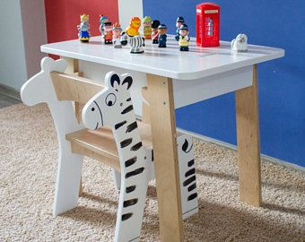 Kids Plywood Desk Table And Chair Set Modern Kids Furniture With Storage Case Children Art Desk With Images Modern Kids Furniture Kids Table And Chairs Plywood Table