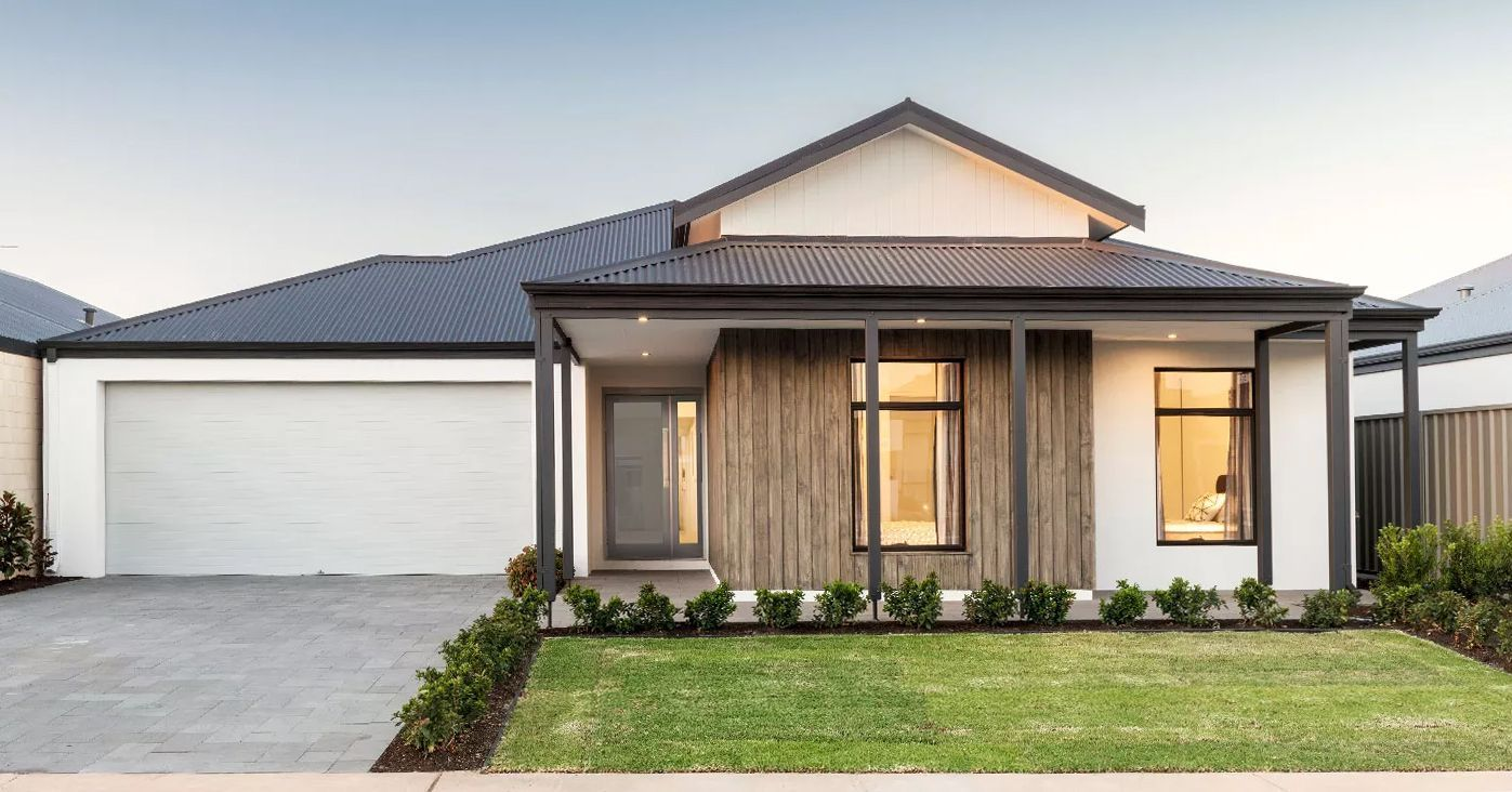 Pioneering Spirit The Bold And Striking Face Of The Augusta Display By Plunkett Homes Is Just The Beginning O With Images Display Homes House Exterior Building A New Home