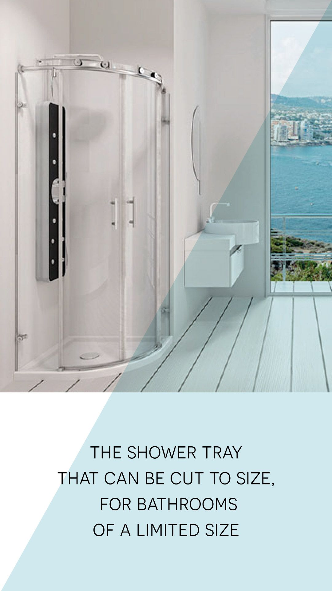 GOTHAM, the shower tray that can be cut to size, for bathrooms of a ...