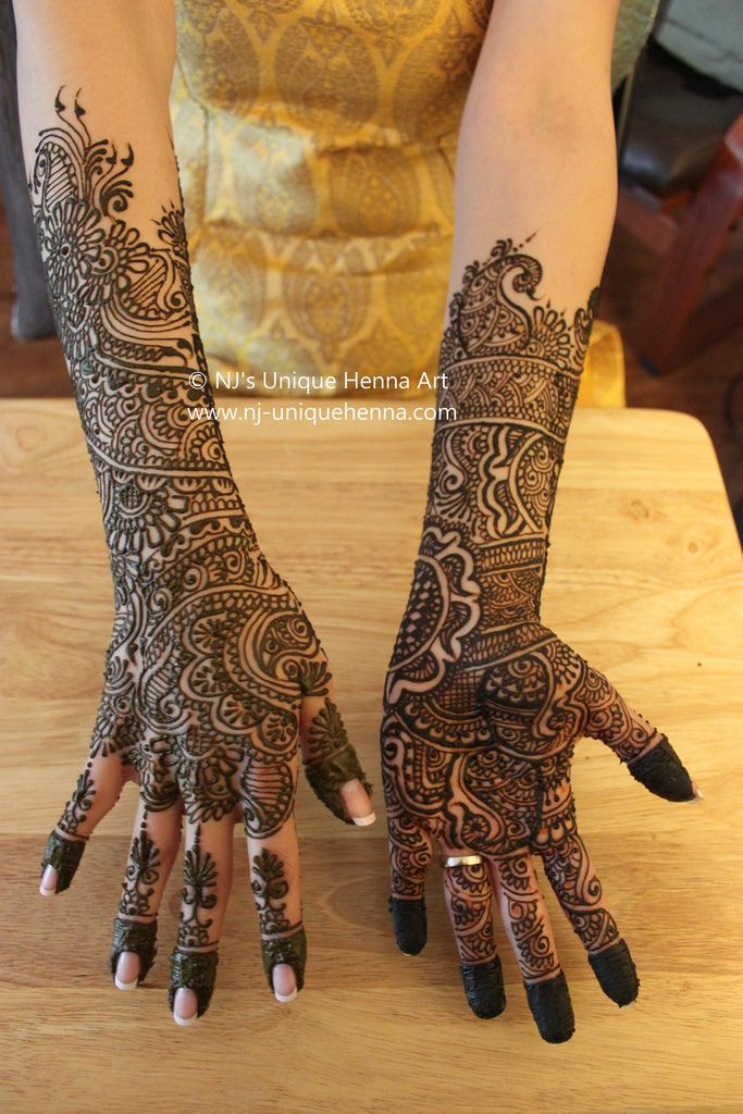 13 Unique Henna Designs Doing The Rounds This Wessing: Mehak's Bridal Henna 2010 © NJ's Unique Henna Art