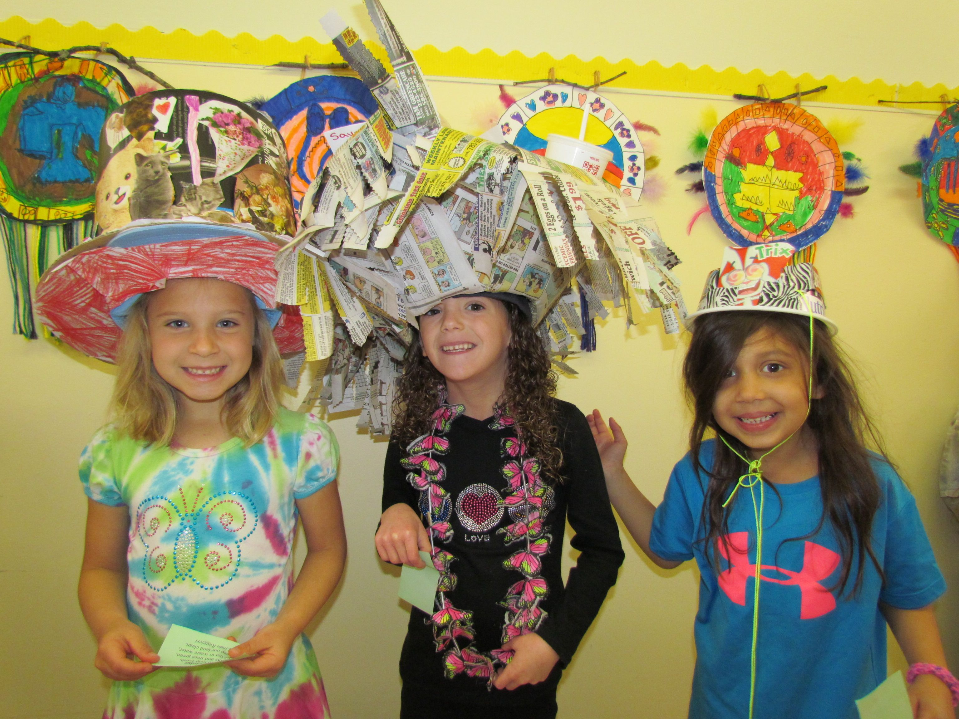 Crazy Hats Made From Recycled Material