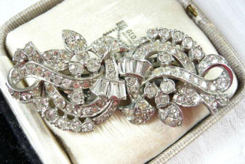 Vintage Jewellery Art Deco Duette Dress Clips Brooch | eBay