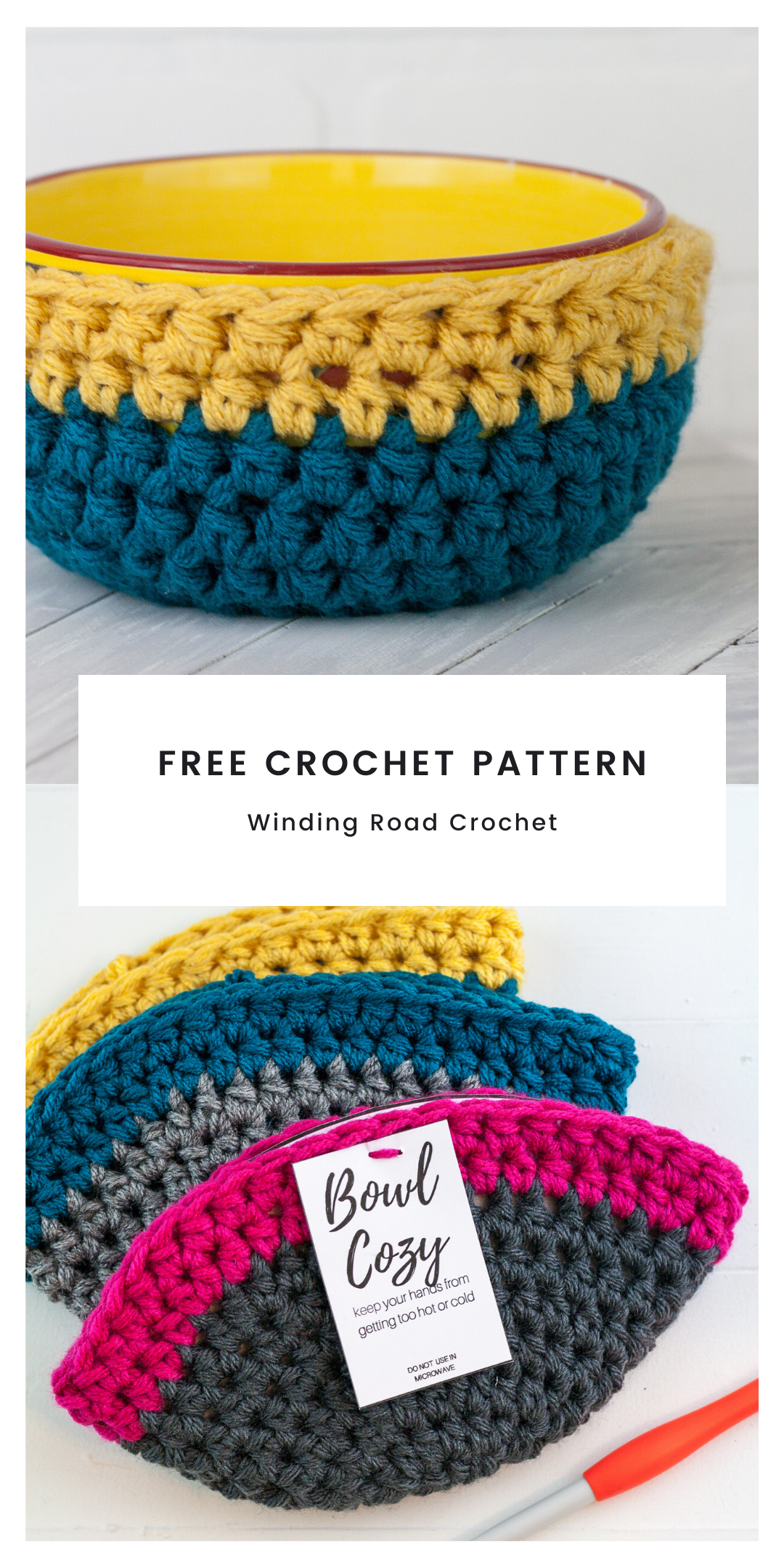How to Crochet Bowl Cozy Free Pattern