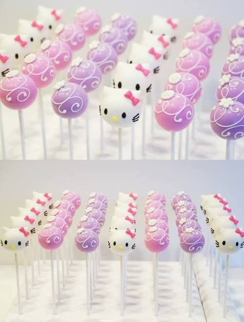 Hello Kitty Cake Pops themes hello kitty Pinterest Hello