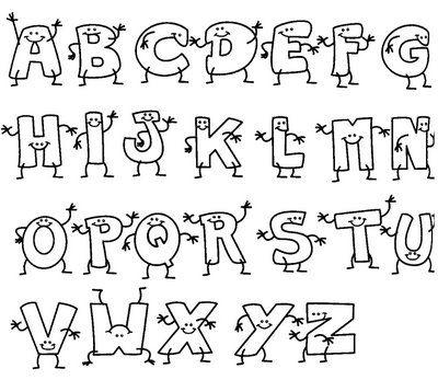 Desenhos De Letras Bonitas Do Alfabeto Google Search Letras