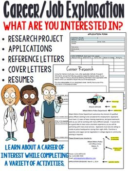 Career Job Exploration Research Project Plan For The Future Career Lessons Career Exploration Career Counseling