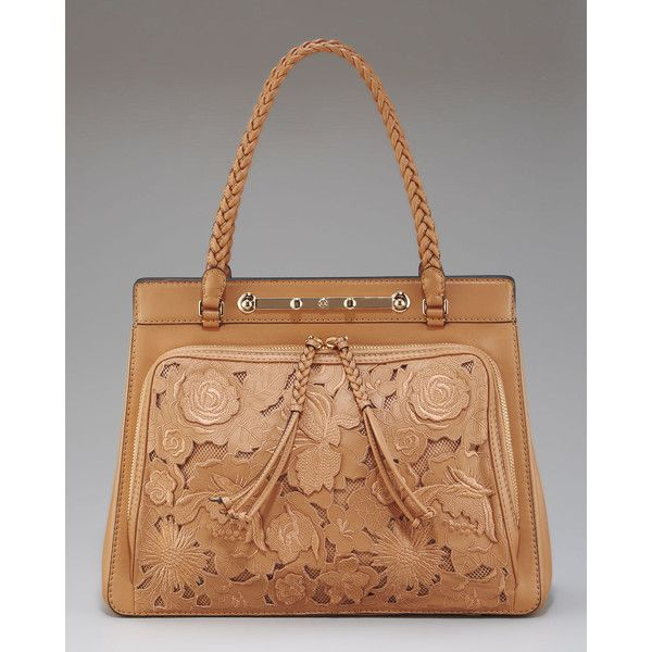 Valentino Demetra Leather Lace Tote uUCV1Tk