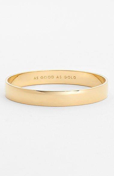 Kate Spade Idiom Gold Bracelet