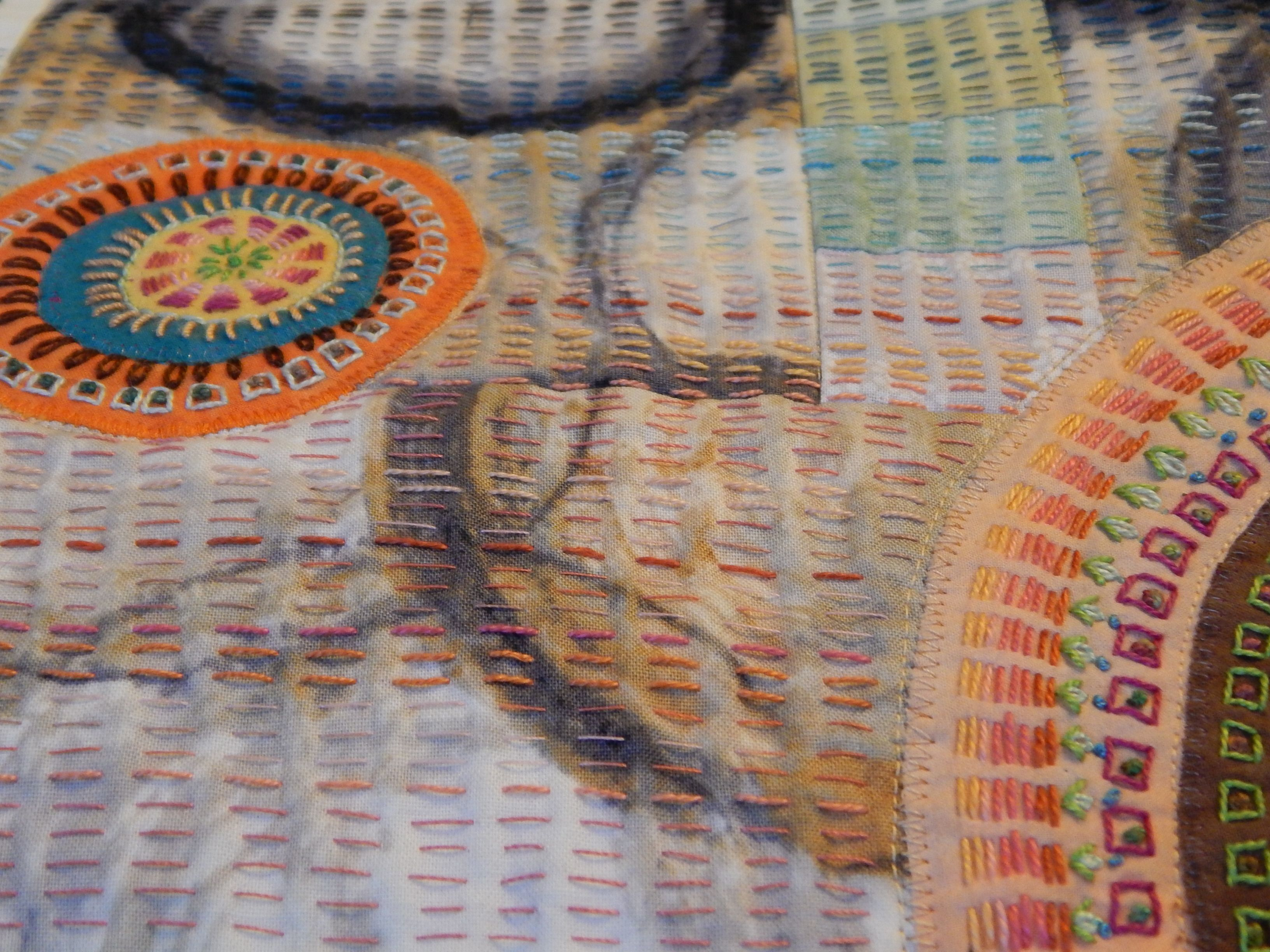 Me And Kantha Stitching Fabric Fibers Textiles Quilts