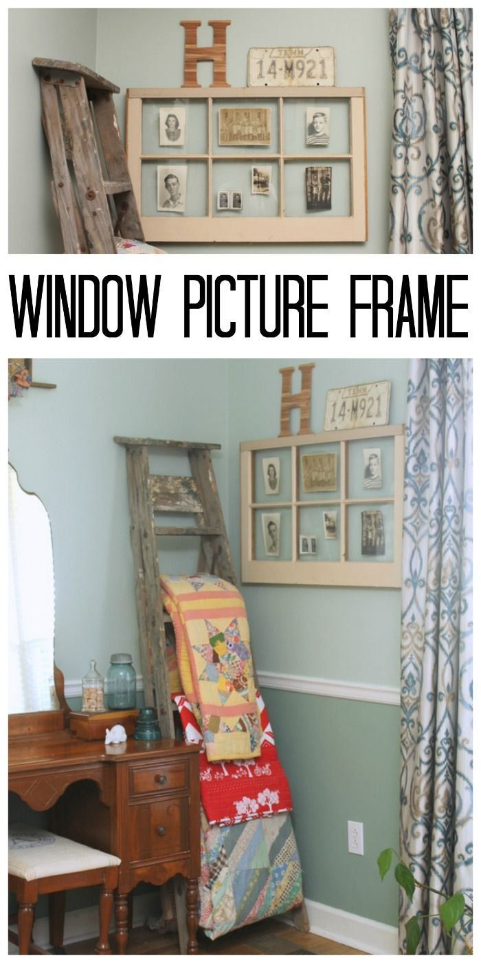 Make Your Own Window Picture Frame | cute things | Pinterest ...