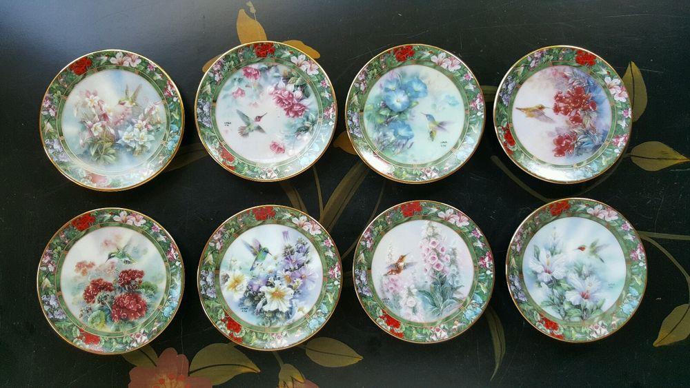 8pcs Lena Liu's Hummingbird Treasury Miniature Plate