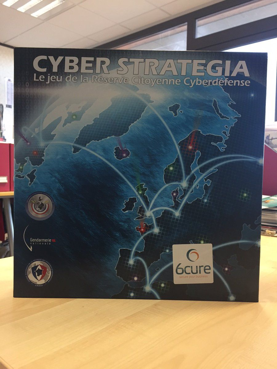 Our game boxes have arrived! #cyberstrategia #reservecitoyenne #Cyberdefense #FIC2017