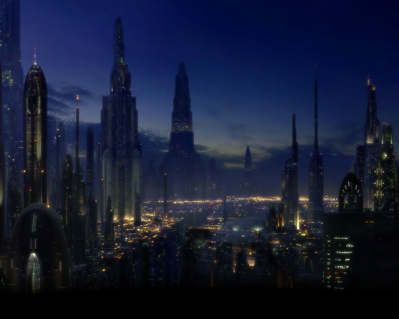 Download 1280x1024 Sci Fi City Wallpaper Background ID79306