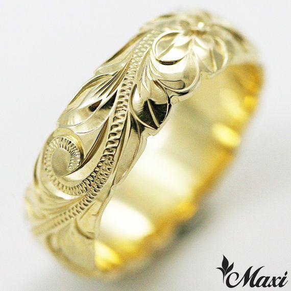 Hawaiian Jewelry 14k Gold Hawaiian Traditional Ring LBR0136