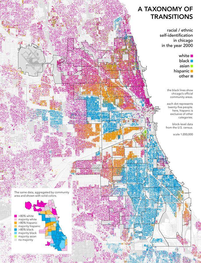 Taxonomies Of Transition Urban Segregation Maps By Bill Rankin Cartography Map Chicago Map