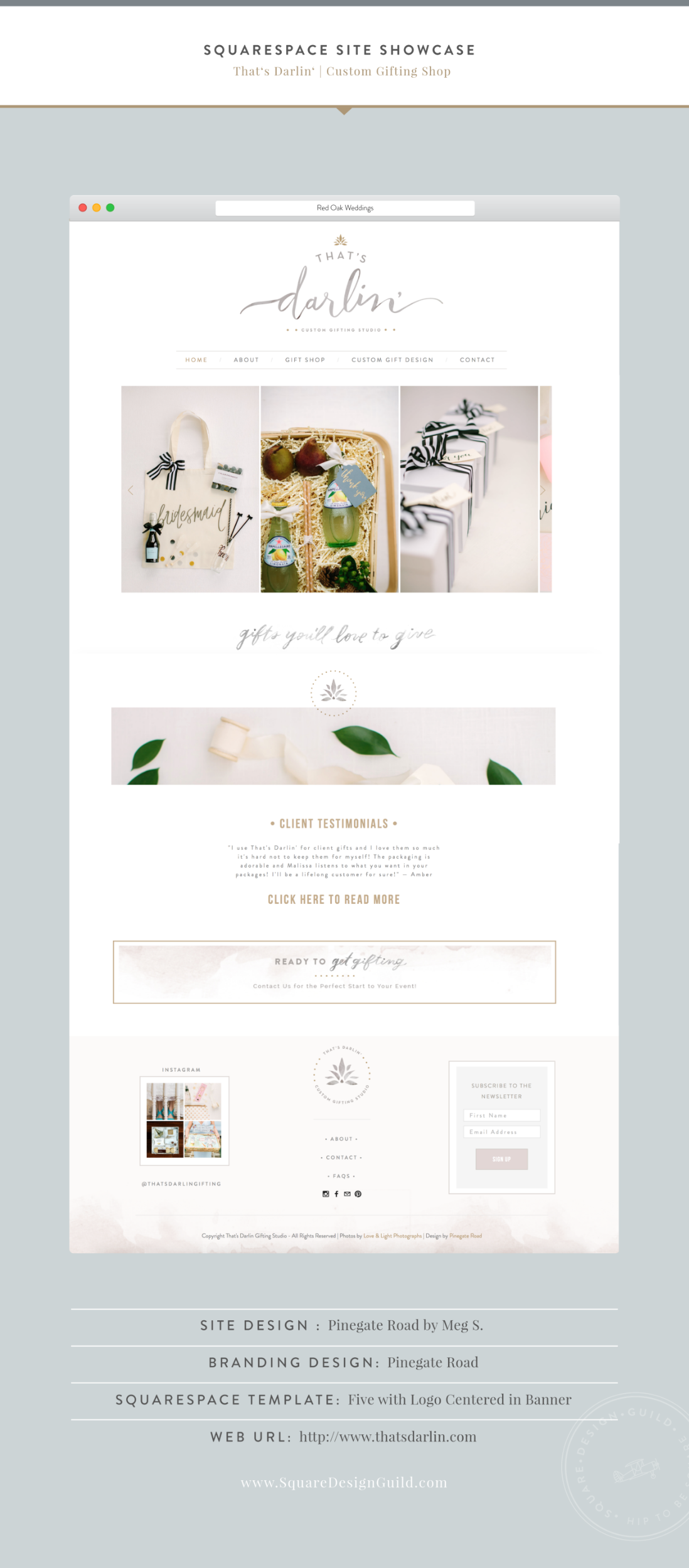 Site Showcase That S Darlin By Pinegate Road Squarespace Website Design Beautiful Website Design Web Design Tips
