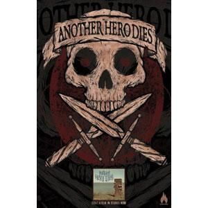 Another Hero Dies Concert Promo Poster, Skull & Crossed Daggers With Logo Banner Above Arguments Insert, Another Hero Dies Arguments Concert Promo Poster, Another Hero Dies Posters/Wall Art, Another Hero Dies Merchandise