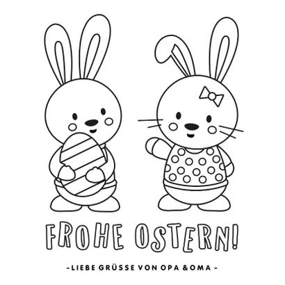 Osterkate Ausmalbild Osterhasen In 2020 Grusskarten Ausmalbild Osterhase