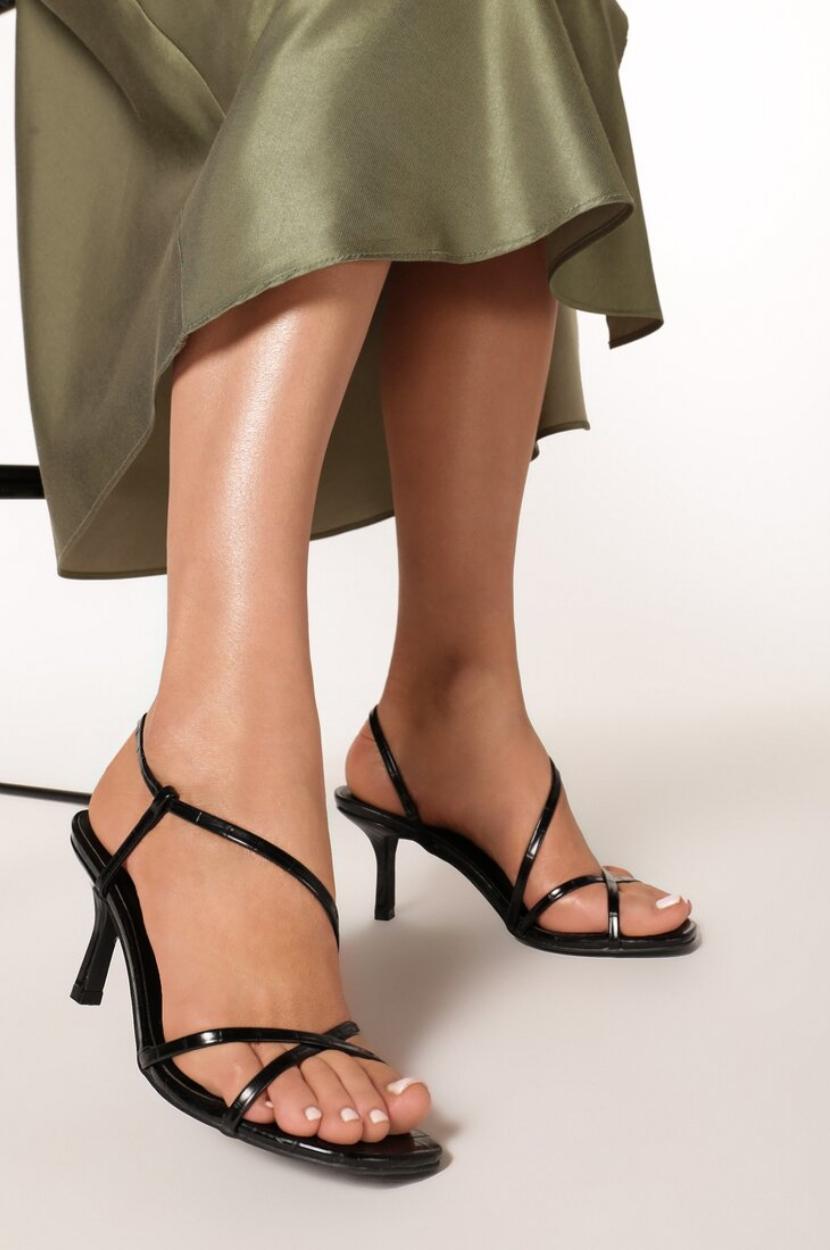 Czarne Sandaly Galaxaura Sandals Heels Heels Shoes