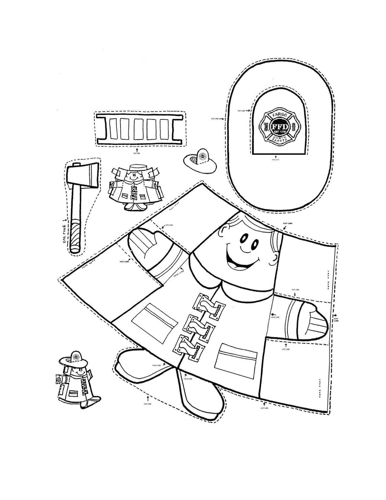 Fire Truck Maze Worksheet School Presc