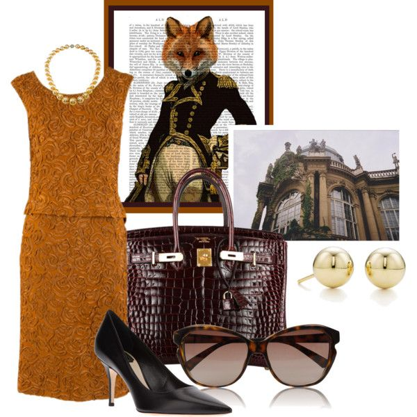 """""""The Proper Fox"""" by ssquared on Polyvore"""