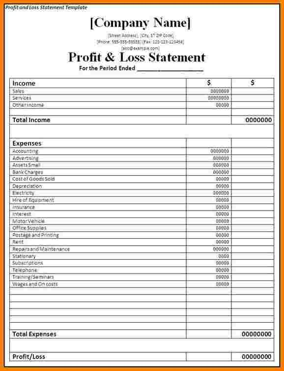 10+ profit and loss statement for self employed | Case ...