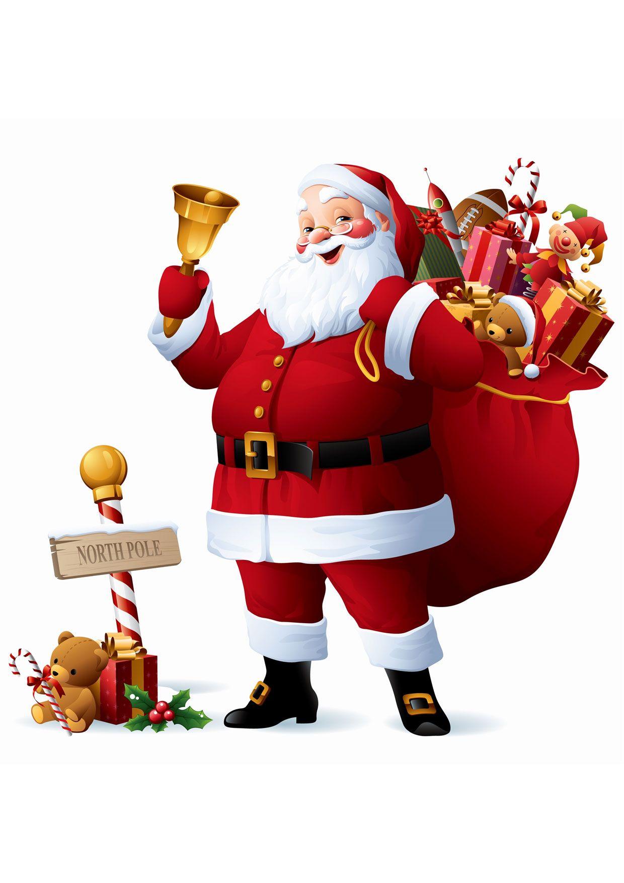 Immagini Natalizie Da Stampare Gia Colorate.30 Disegni Di Babbo Natale Gia Colorati Da Stampare