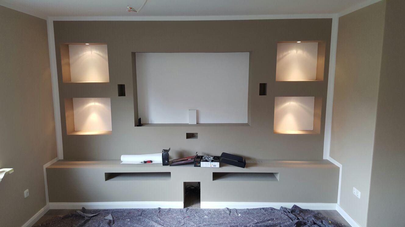 Extra Anfertigungen  Tv wand trockenbau, Trockenbau, Wohnzimmer