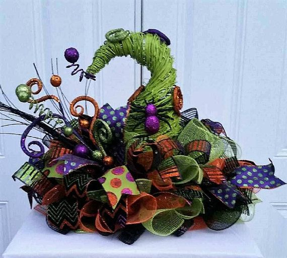 Halloween Decor - Halloween Decorations - Halloween Wreath - halloween decorations witch