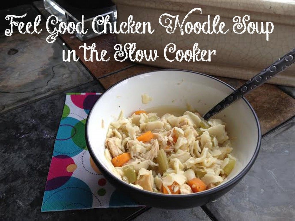 delicious and hearty homemade chicken noodle soup in the