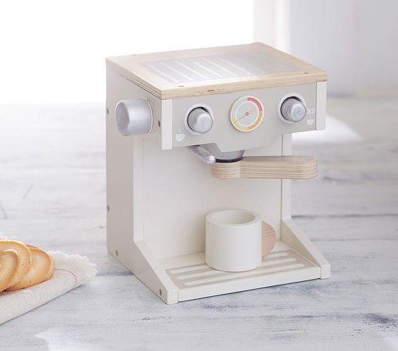 Wooden Espresso Machine Toy Kitchen Pottery Barn Kids