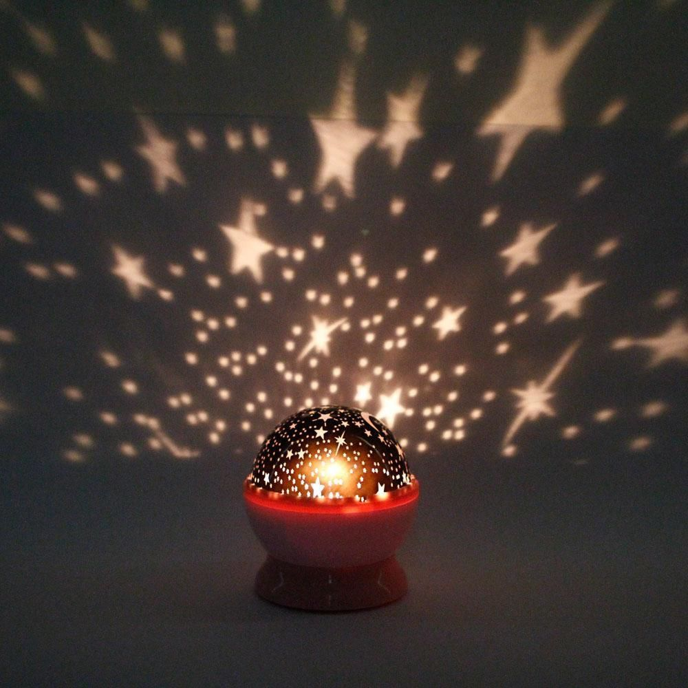new rotation night projector light lamp star sky romantic fairy