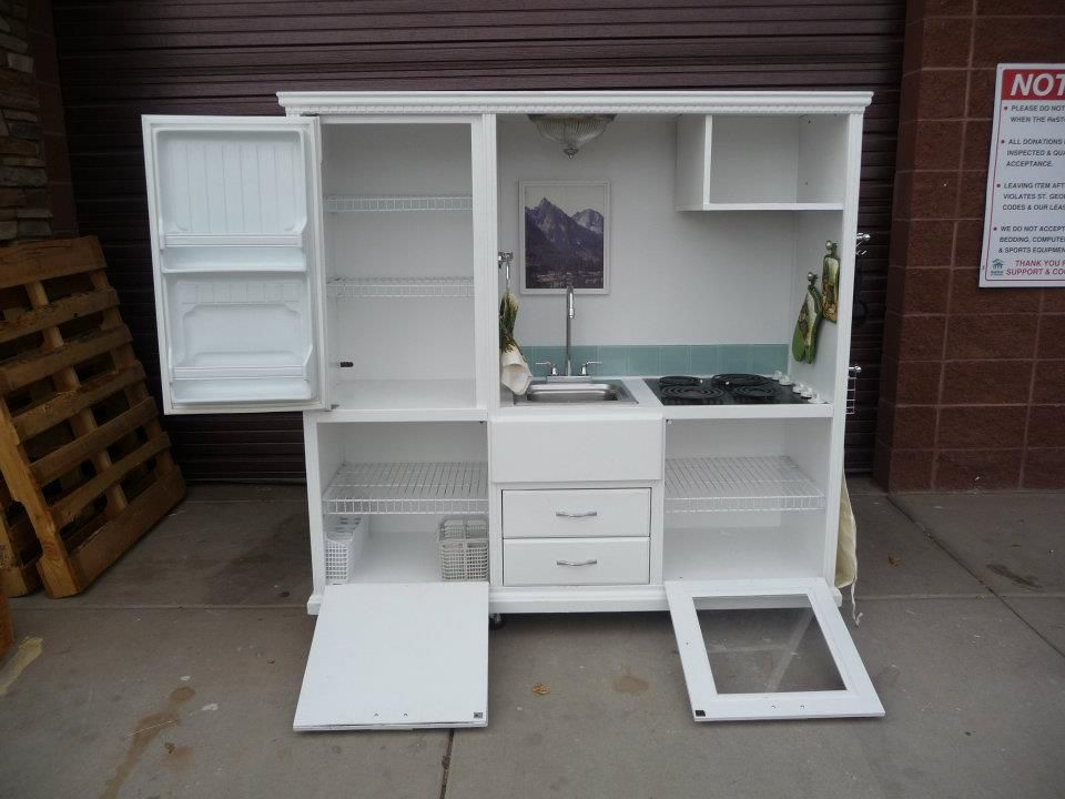 This site shows you how to make all kinds of awesome toys! A mini kitchen out of an entertainment center, covering the small plastic tables with cute fabric, all kinds of stuff!