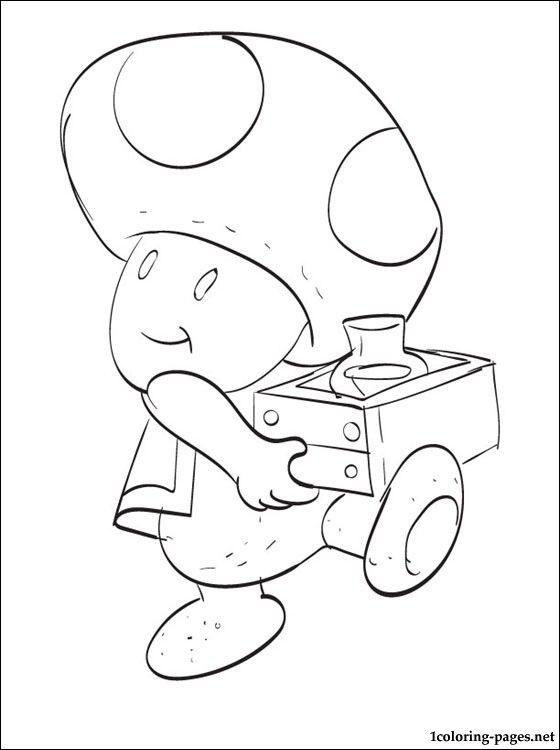 Toad Mario Printable Coloring Page Coloring Pages Coloring