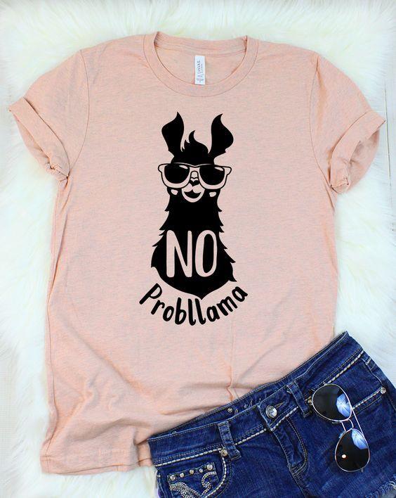 No Probllama T-Shirt ZNF08