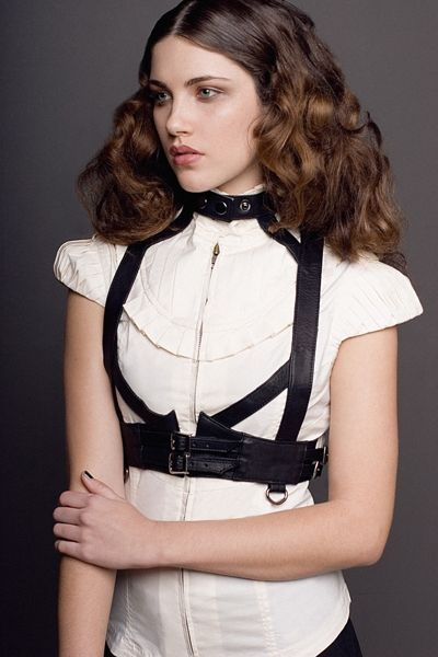 Leather Harness   Blouse - chic   edgy fashion  style love    SkinGraft fw09 444c01290ef