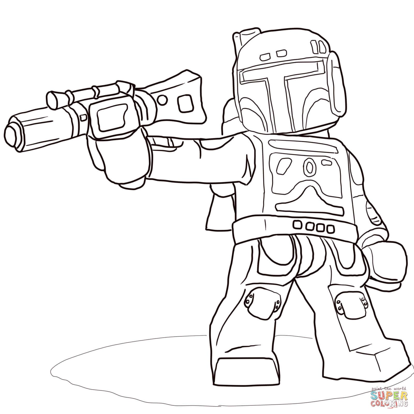 Lego Star Wars Boba Fett | Super Coloring | Babies | Pinterest ...