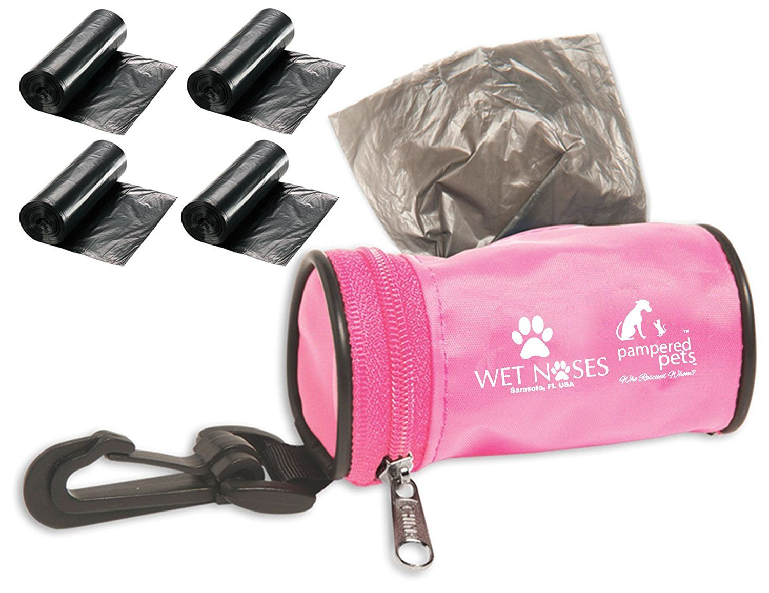 Pampered Pets Wet Noses Bag Dispenser with 4 Extra Rolls