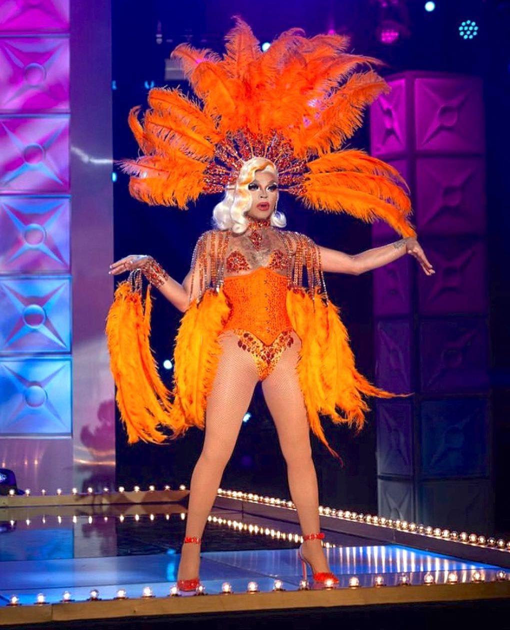 Art Faithful Da Neena Goddess Drag Cabaret Showgirl Peagent Dance Headdress
