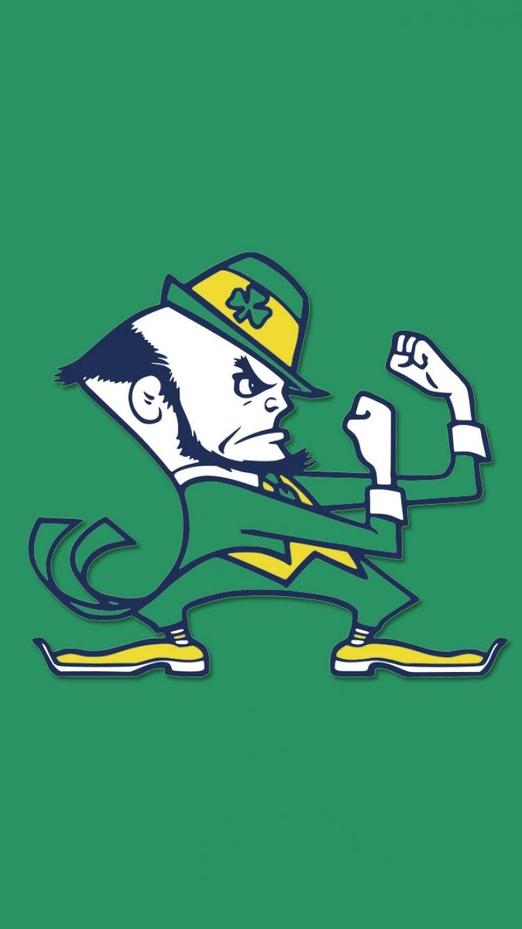 Notre Dame Wallpaper For Iphone Notre Dame Leprechaun Fighting Irish Logo Notre Dame Fighting Irish