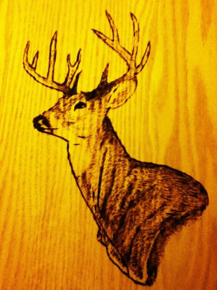 How To Wood Burn Pictures Wood Burn Deer Head Design 3