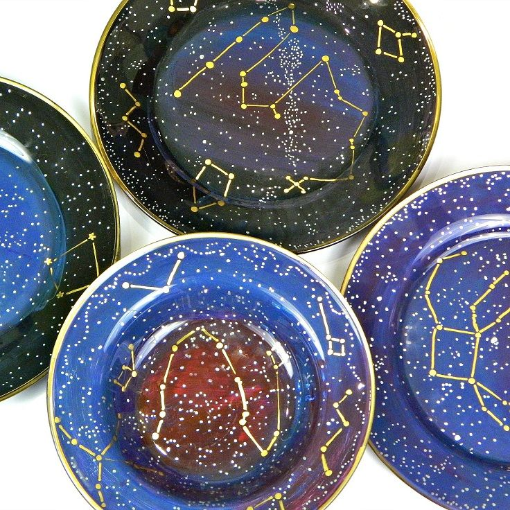 Top 10 Amazing Galaxy Inspired DIY Projects Constellation Project  sc 1 th 225 & Mesmerizing Galaxy Dinnerware Set Pictures - Best Image Engine ...