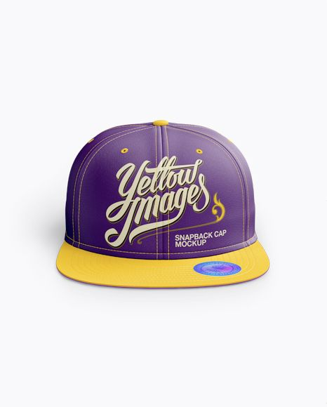 Download Snapback Cap With Sticker Mockup Front View In Apparel Mockups On Yellow Images Object Mockups Mockup Free Psd Mockup Snapback Cap