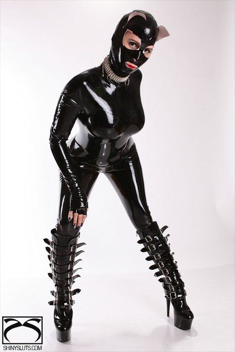 Heavy Duty PU Leather Padded Lockable Hood Mask Halloween 11 yyy